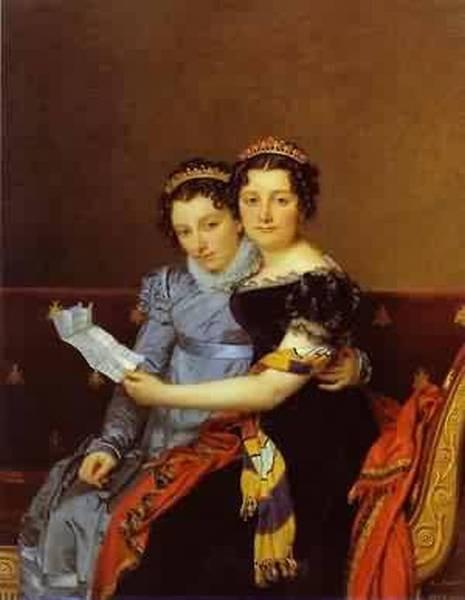Portrait of charlotte and zenaide bonaparte 1821 xx j paul g